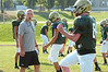 Coach Tom Kirk with the Lansdale Catholic football team at morning practice.    Monday August 11, 2014.   Photo by Geoff Patton