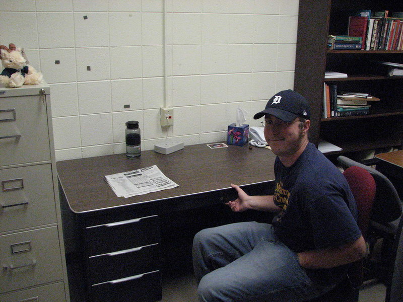 Alex in his office at Colorado State
