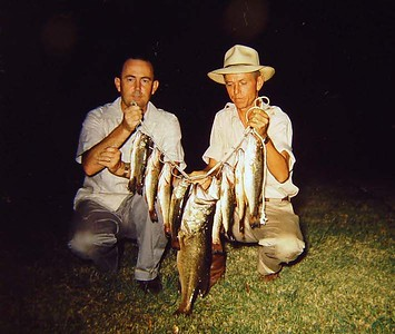 Buddy and Frank with nice string of fish.