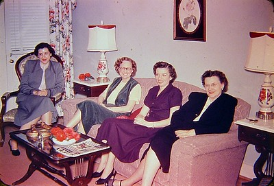 Clarice, Ouida, Margaret Clay, and Katie Ree. The bank ladies.