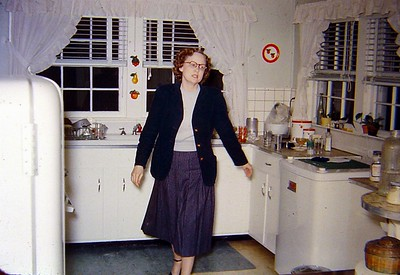 Ouida in the kitchen.