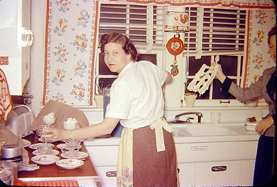 Maida in the kitchen.