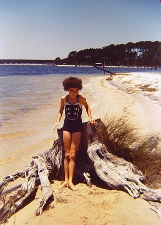 Cheryl on the beach at Josephine.