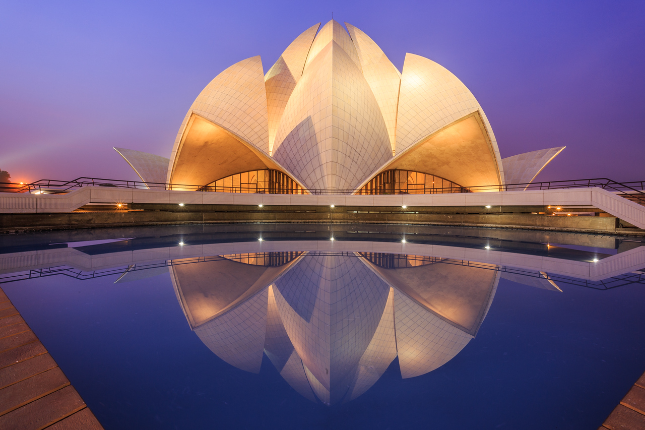 #1 Lotus Temple, New Delhi