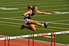 May 21, 2009. CCDS sophomore Alexis V. clears the hurdles on the first day of the Miami Valley District Finals in New Richmond, Ohio. Photo by Lynne Skilken.