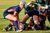 July 14, 2011. USA Rugby U20 Women's National Team scrumhalf Haley Anderson (Summit, CO) takes the ball from Jennifer Sandifer (Navy) on the first day of the Nations Cup in Santa Barbara, CA. USA defeated South Africa 27-3 in the Nations Cup opener. Photo by Lynne Skilken