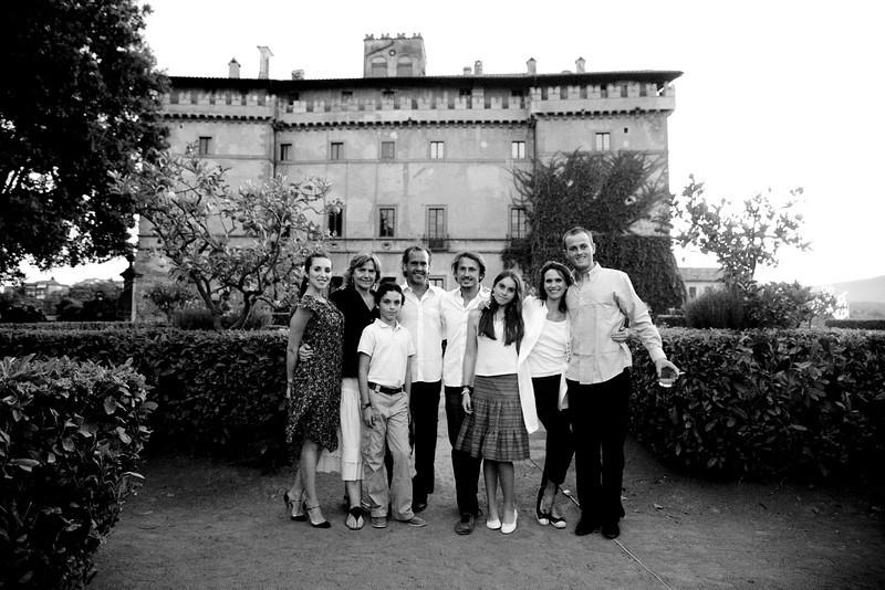 Claudia Soare, Giada Ruspoli, Theodore Ruspoli, Francesco Ruspoli, Tao Ruspoli, Melusine Ruspoli, Patricia Ruspoli, Bartolomeo Ruspoli; Vignanello 2008