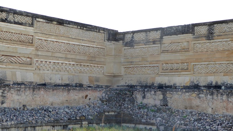 Wall from Mitla archeological site