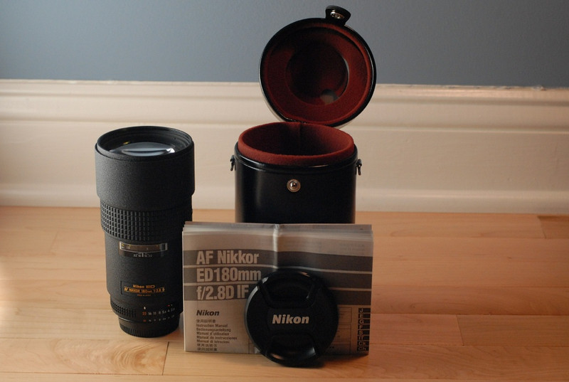 01 - 180mm, manual, and hard case
