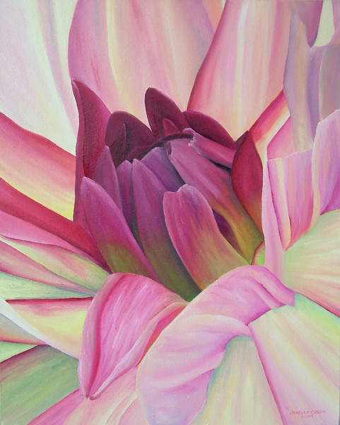 "Dahlia # 2<br /> 16"" x 20""  Oil<br /> ""BEST OF SHOW"" - 2011 Fulton Fall Folk Festival<br /> $225"