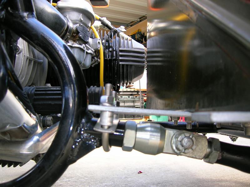Rear lower mount.