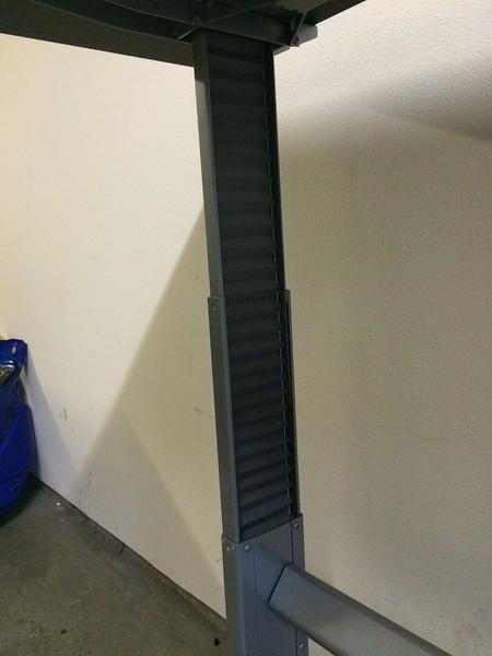 """BioMorph Standing Desk 72"""" x 24"""" - left leg detail"""