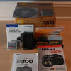 Nikon D200 box, CDs, Manuals, charger, compact flash cards, battery