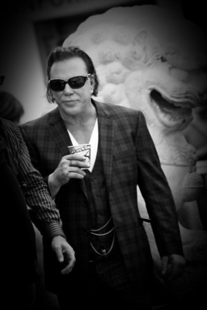 Mickey Rourke at Grauman's Chinese Theatre for his hand and footprint ceremony