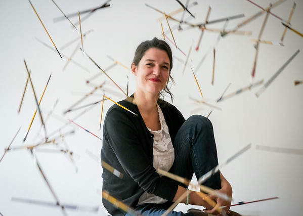 Atelier art school owner Marianne Daquet photographed in her classroom, Beijing, China, March 2014