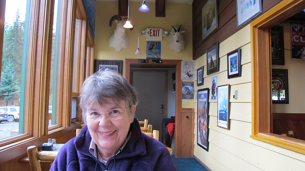 """Jan at """"Chair 4 Pizza"""" in Girdwood"""
