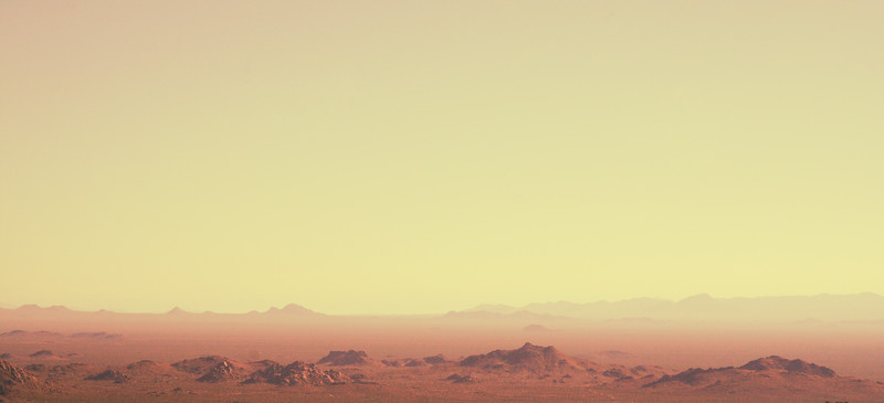 """Another World: Mojave in the Middle of the Day<br /> 17"""" * 7"""" Photo with a little digital magic"""