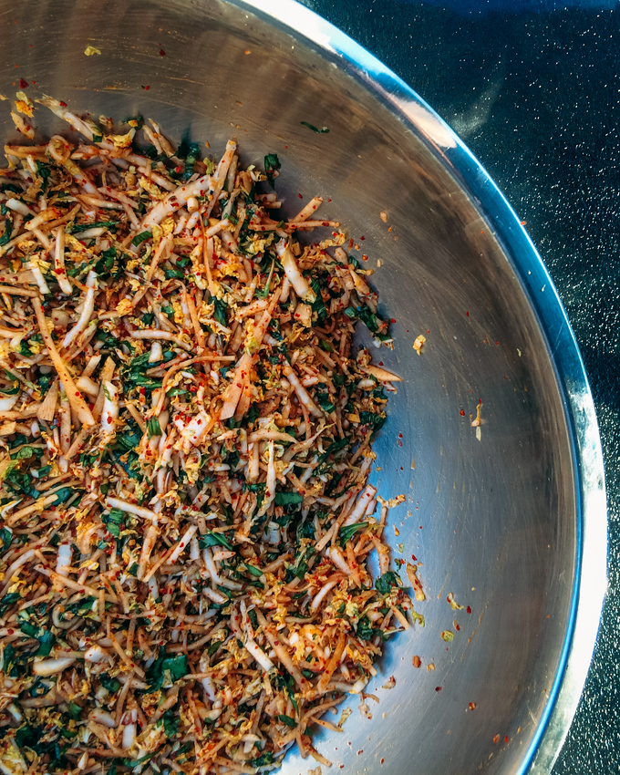 Easy ramp kimchi recipe is the perfect dish to impress friends. This spin on a traditional kimchi recipe is so easy to make and makes great use of foraged ramps.