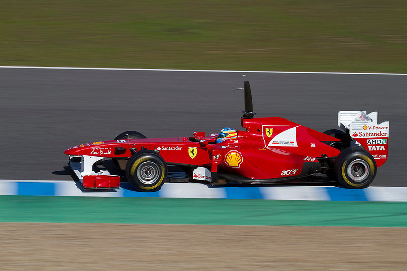 Fernando Alonso/Ferrari. Jerez 12 Febrero 2011