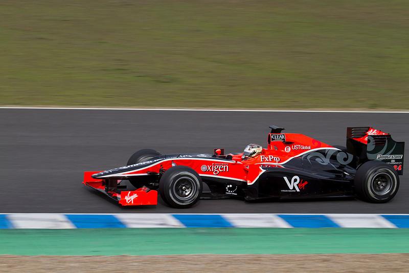 Timo Glock, Virgin Racing. Jerez, Febrero 2010.