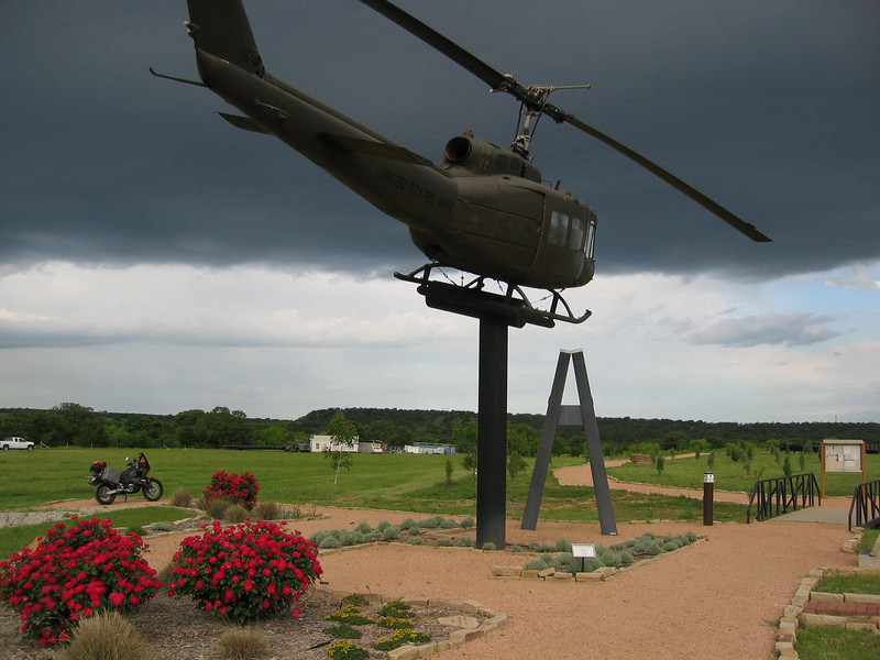 A Viet Nam Helicopter Crew Memorial Outside the Old Gate