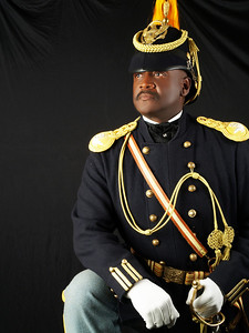 Cmdr Fred Marable portraying Colonel Charles Young a graduated from the U.S. Military Academy at West Point in 1889.  Buffalo Soldier in the 10th Cavalry and then 9th and 10th Cavalries in Utah.