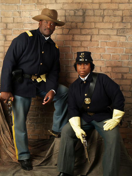 Cmdr Fred Marable and Pvt. Michelle London-Marable just chillin.