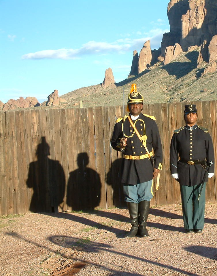 Commander Fred Marable and Pvt. Michelle London-Marable, Founders.