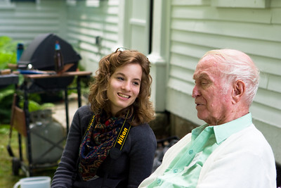 Anna and her grandfather.