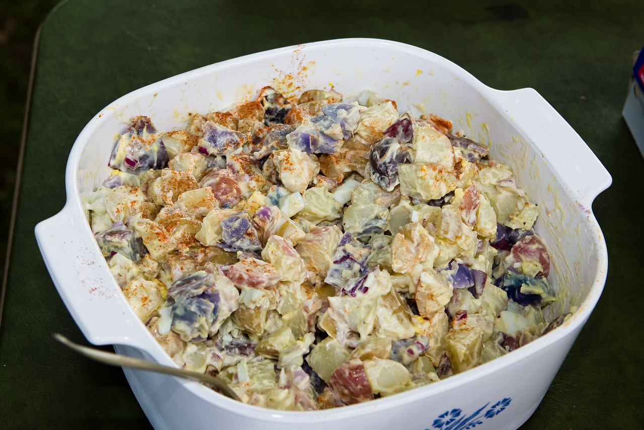 Red, White, and Blue potato salad.