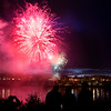 BREWER, Maine -- 07/04/2017 - People watch fireworks near the Brewer Waterfront during the annual Kiwanis fireworks show over the Penobscot River Tuesday. Ashley L. Conti | BDN