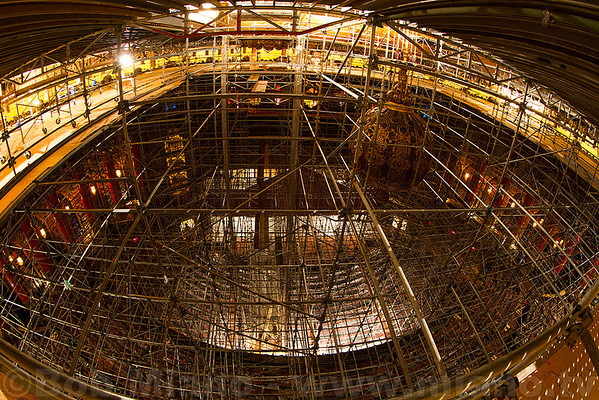 View from the first level of scaffolding.