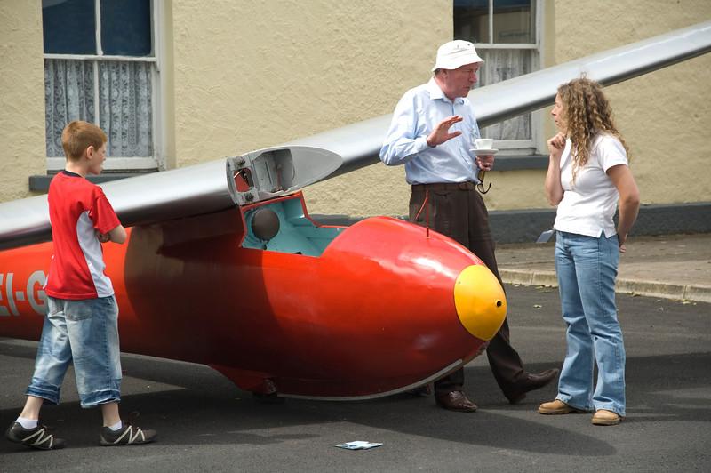 Vintage Glider <br /> Joe Walsh with his vintage glider.