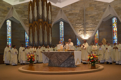 SCJs, along with many visiting priests, joined Fr. Jan at the altar.