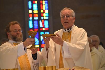 Celebrating the Eucharist.