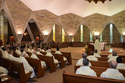 The chapel was filled for the celebration.