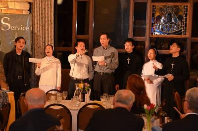 The Vietnamese ESL choir concluded the dinner.