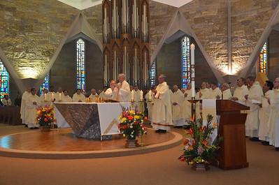 Preparing for Eucharist.