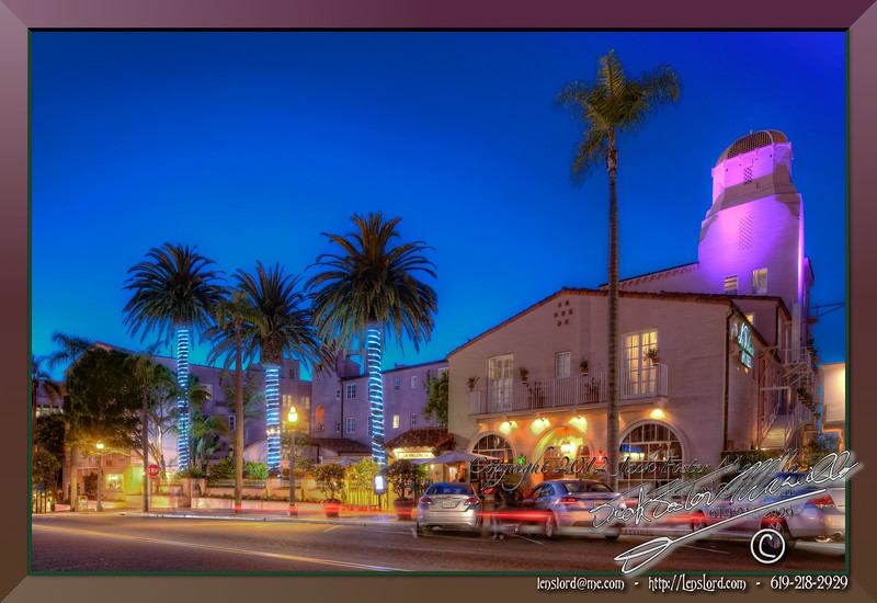 """The Valencia Hotel - La Jolla California. <a href=""""http://lenslord.com/2012/02/06/the-valencia-hotel-la-jolla/"""">Link to the article on my blog.</a> <a href=""""http://www.thelenslord.com/Professional/Purchasable-Prints/10803439_wQxWjL#!i=1701657956&k=b6fkLSX"""">Link to buy this image.</a>"""