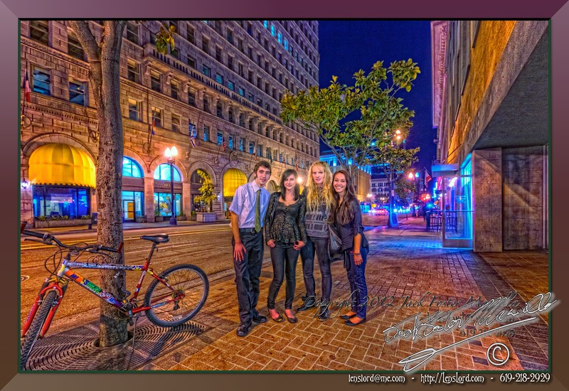 "Four Friends in San Diego  <a href=""http://lenslord.com/2012/02/15/four-friends-in-san-diego/"">Link to the article on my blog.</a> <a href=""http://www.thelenslord.com/Clients/Alexander-Salazar-Fine-Arts/20120209-TrueDelorenzo/21418487_NG6CMc#!i=1706615002&amp;k=sZT9DBJ"">Link to buy this image.</a>"