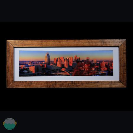Cincinnati sunrise from Mount Adams with the sun to my back.<br /> <br /> Aspen.