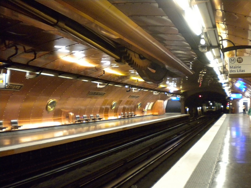 Arts de Metiers metro station, Paris, France (My favorite one.)