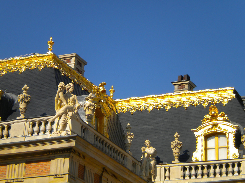 The statues and gold on the Palace of Versailles. (no wonder the peasants revolted).