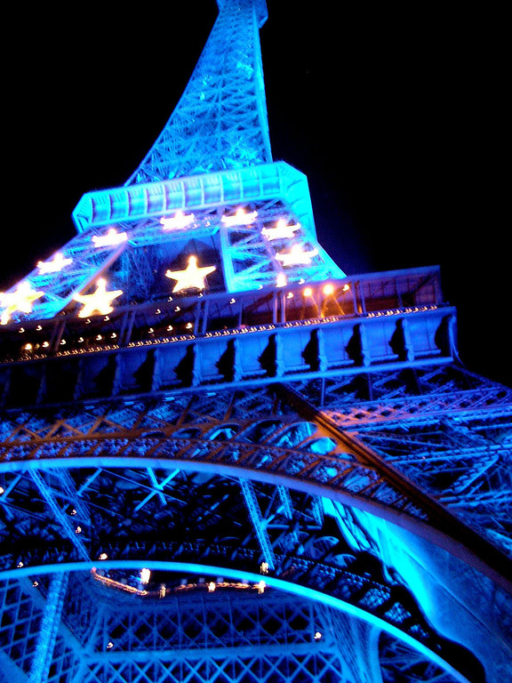 The Eiffel Tower in the fall of 2008.