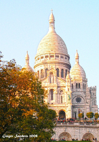 My version of Sacre Coeur. A man on the steps was singing Hallelujah by Leonard Cohen. It was amazing.