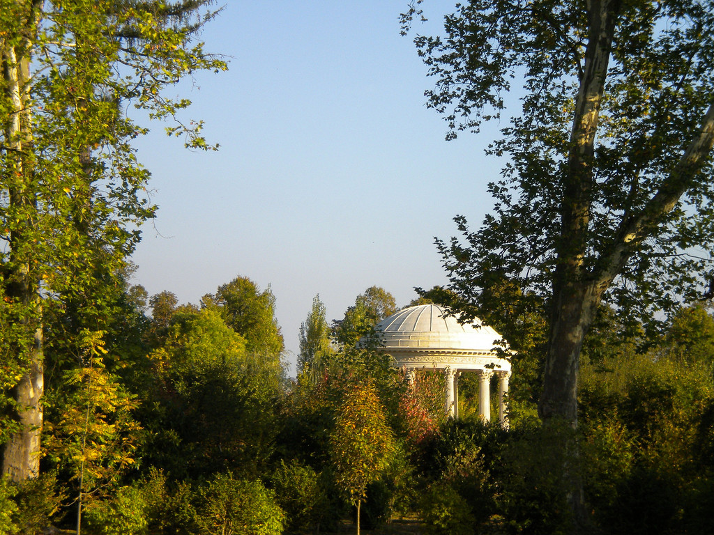 Garden gazebo in the forest at Versailles.