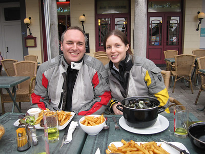 Lunch on first day in Arras. From now on, we'll be buying cheap stuff in supermarkets, honest!!!
