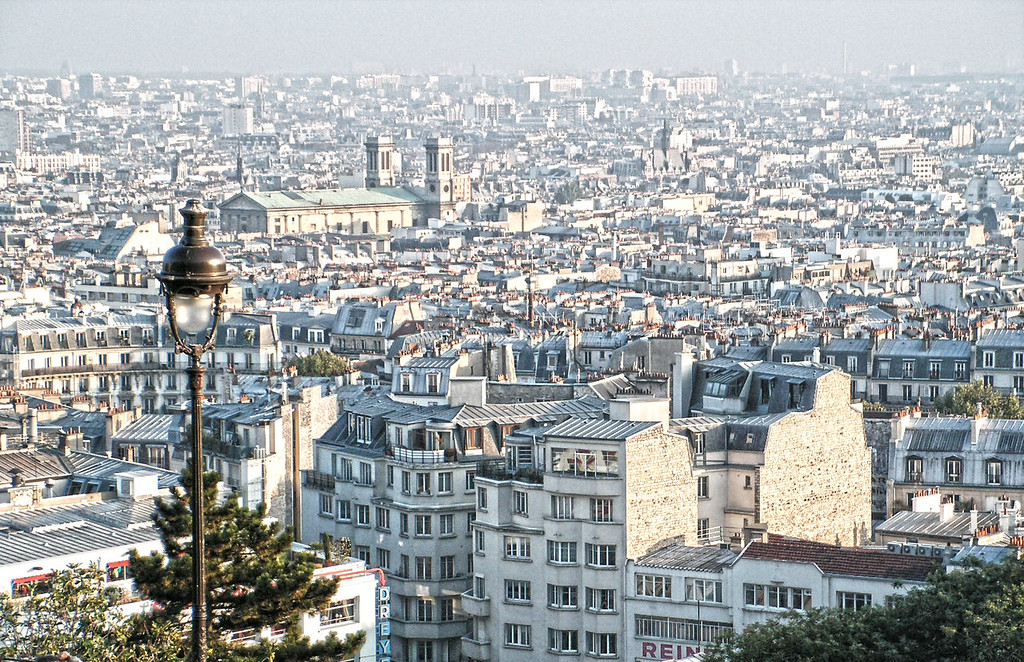 View of Paris from Sacre Coeur.