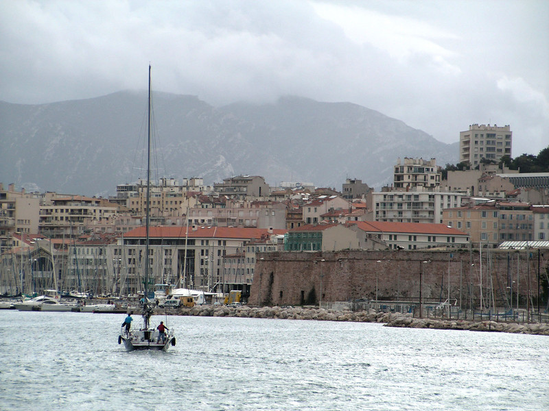 Sailing into Vieux Port, Marseilles, France