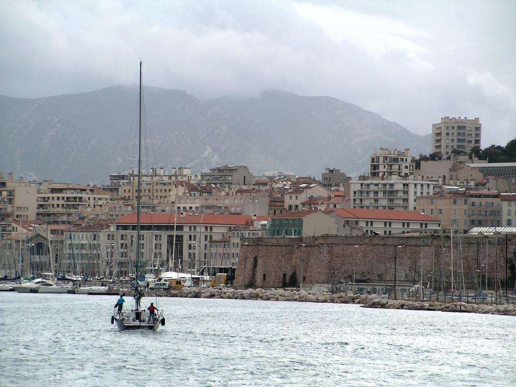 Sailing into Vieux Port, Marseilles, France